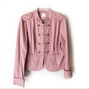 Nordstrom HALOGEN crop Military Blazer Rose Pink